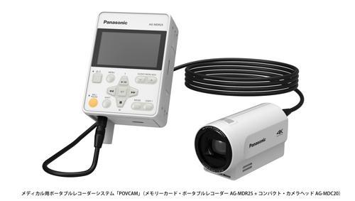 術野収録に適したメディカル用 ポータブルレコーダーシステム「POVCAM」
