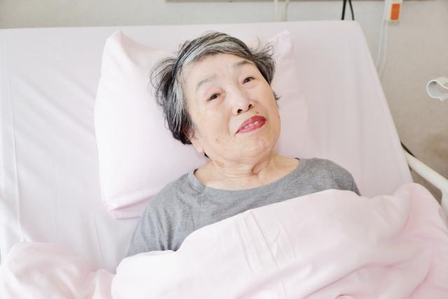 入院中のベッドから
